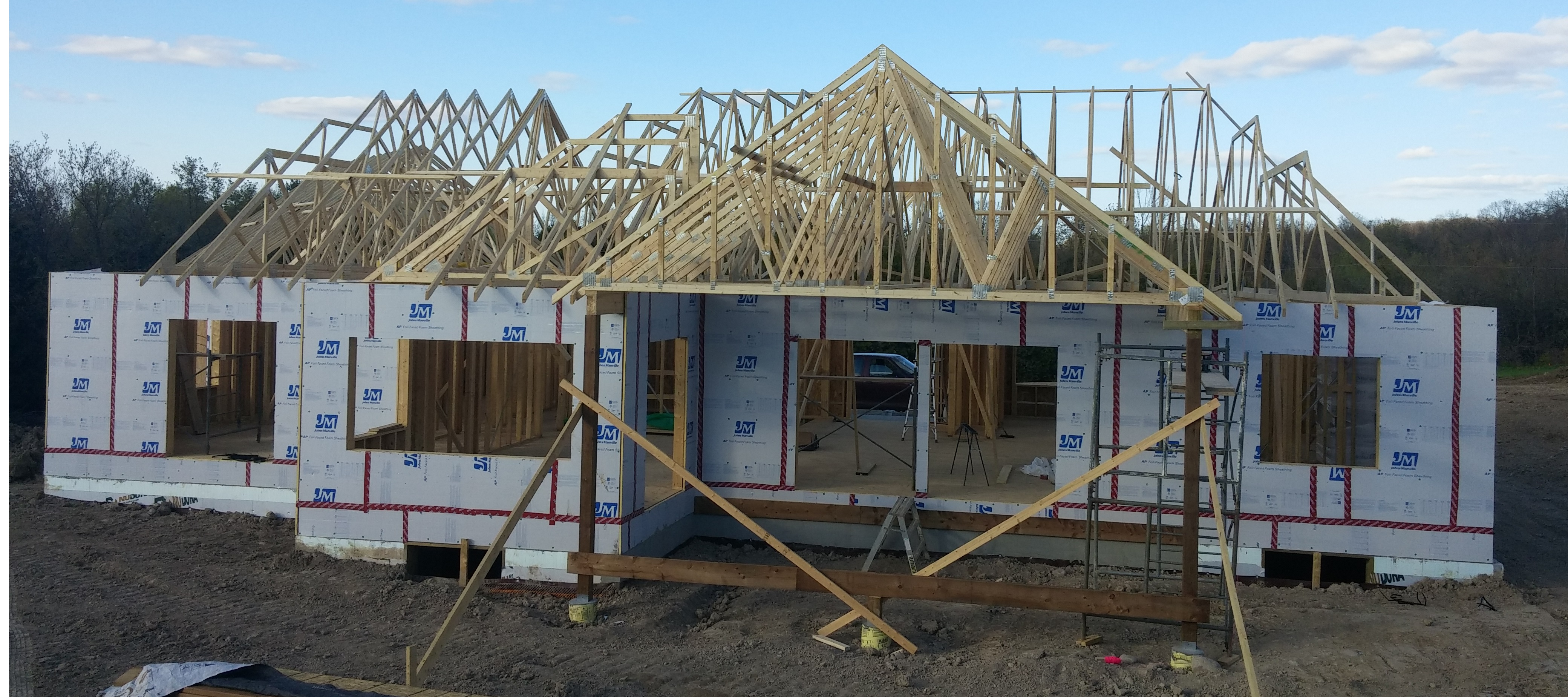 Photo of house being constructed