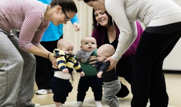 Image of parent and baby program at the CCC