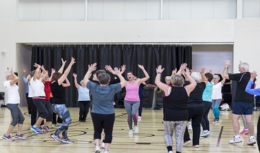 Image of seniors fitness class at the CCC