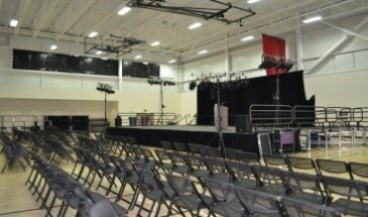 Image of CCC gym A set-up for large event