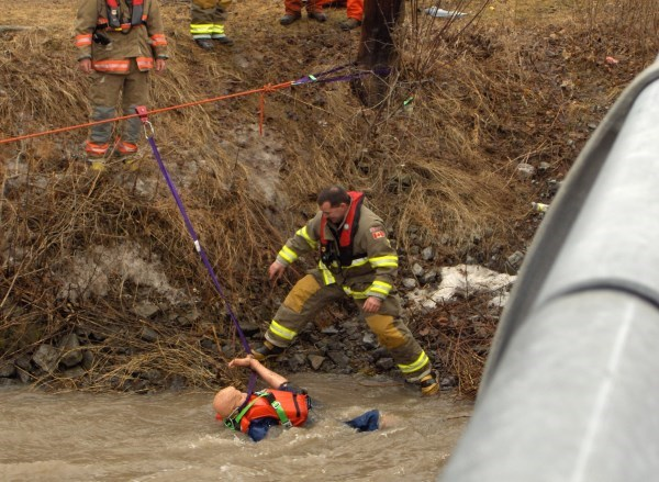 Firefighter water rescue training picture